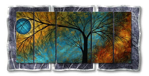 Beauty in Contrast - Painted Steel Metal Welded Wall Art Decor by Artist Megan Duncanson