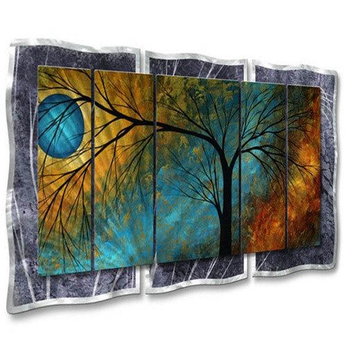 Beauty in Contrast - Painted Steel Metal Welded Wall Art Decor - Megan Duncanson