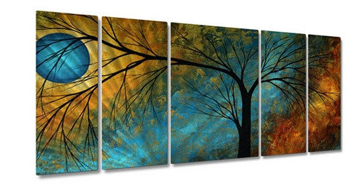 Beauty in Contrast - Painted Steel Metal Welded Wall Art Decor by Famous Artists
