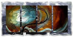 Midnight Wind - Abstract Sculpture Steel Metal Welded Wall Art Decor - Megan Duncanson
