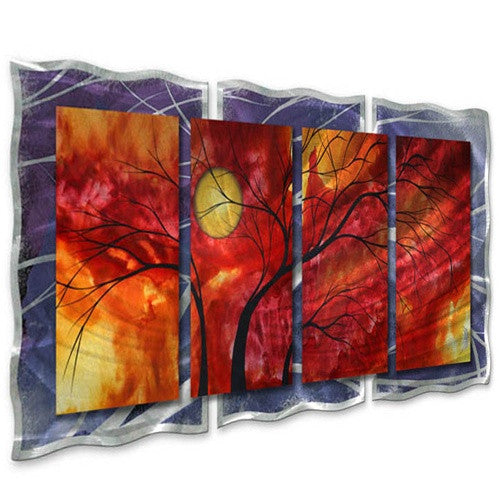 Burning Crimson - Abstract Steel Metal Welded Wall Art Decor - Megan Duncanson