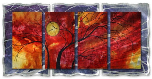 Burning Crimson - Abstract Steel Metal Welded Wall Art Home Decor - Megan Duncanson