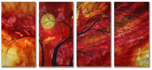 Burning Crimson - Abstract Steel Metal Welded Art Decor for Home - Megan Duncanson