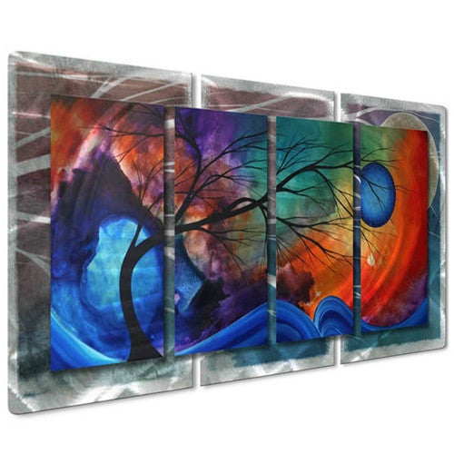 Cosmic Collision - Abstract Sculpture Steel Metal Welded Wall Art Decor - Megan Duncanson