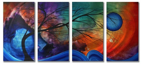 Cosmic Collision - Abstract Style Steel Metal Welded Wall Art Decor - Megan Duncanson