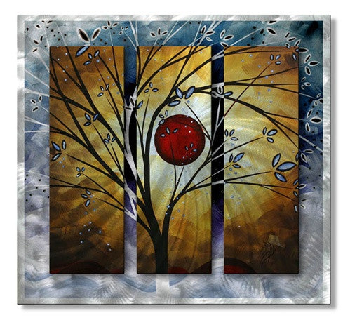 Blue Blossoms - Metal Wall Art Decor - Megan Duncanson