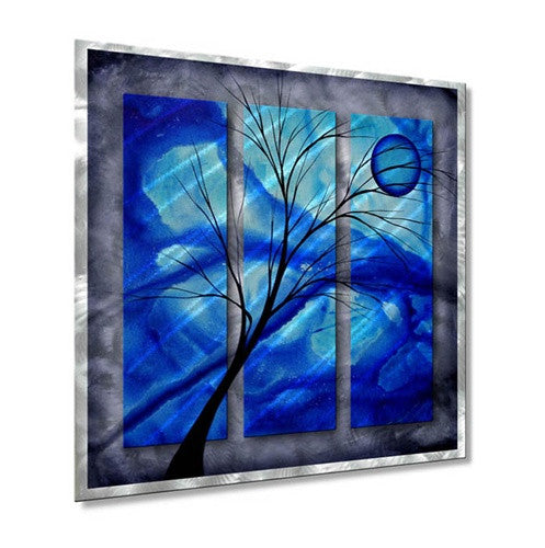 Deep Blue - Painted Steel Metal Welded Wall Art Decor - Megan Duncanson