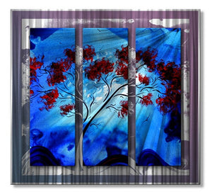 Blue Beauty - Metal Wall Art Decor - Megan Duncanson