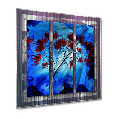Blue Beauty - Contemporary Metal Wall Hanging - Megan Duncanson