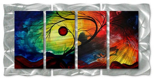 Rainbow Night - Abstract Sculpture Steel Metal Welded Wall Art Decor - Megan Duncanson