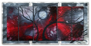 Crimson Night II - Metal Wall Art Decor - Megan Duncanson