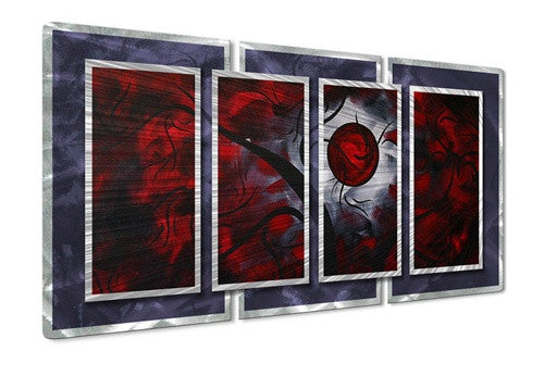 Crimson Moon II - Metal Wall Art Decor - Megan Duncanson