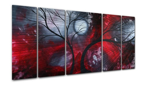 Crimson Night - Metal Wall Art Decor - Megan Duncanson