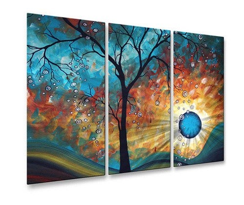 Aqua Burn - Metal Wall Art Decor - Megan Duncanson