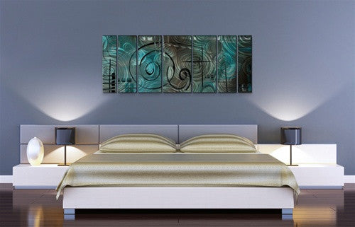 Aqua Mist - Metal Wall Art Decor - Megan Duncanson