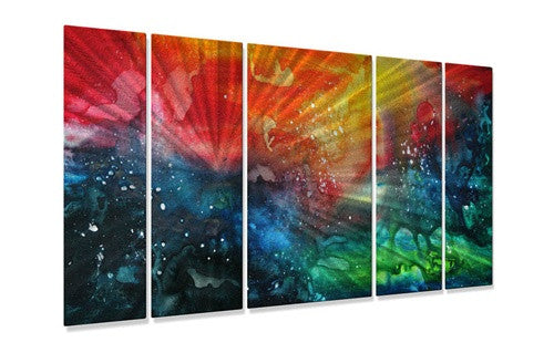 Distant Galaxy - Metal Wall Art Decor - Megan Duncanson
