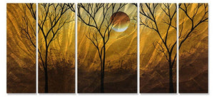 Golden Highlights - Metal Wall Art Decor - Megan Duncanson