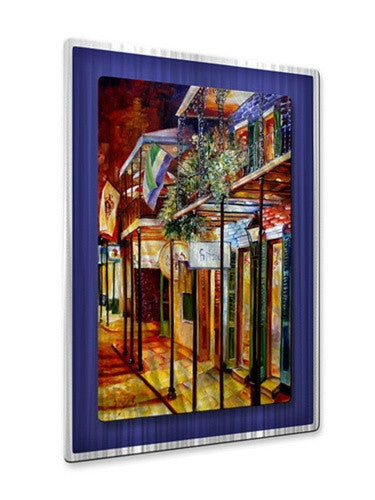 Old Bourbon Street Glow - Metal Wall Art Decor - Diane Millsap
