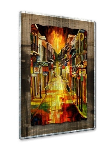Bourbon Street Night - Metal Wall Art Decor - Diane Millsap