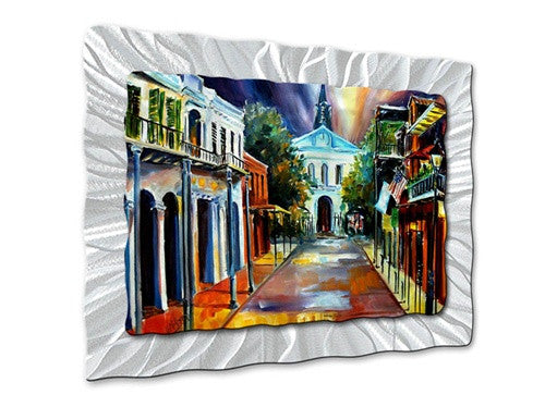 Evening on Orleans Street - Metal Wall Art Decor - Diane Millsap