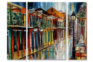 French Quarter Rain AC - Metal Wall Art Decor - Diane Millsap