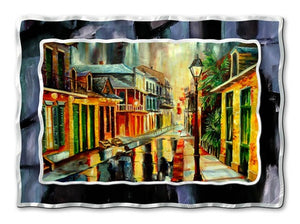 French Quarter Rain FA - Metal Wall Art Decor - Diane Millsap