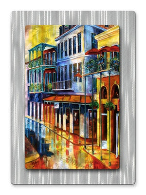 French Quarter Sunrise - Metal Wall Art Decor - Diane Millsap