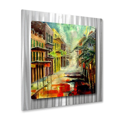 New Orleans Summer Rain - Metal Wall Art Decor - Diane Millsap