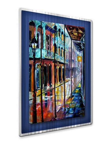 Rain on Royal Street - Metal Wall Art Decor - Diane Millsap