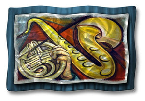 Saxophone - Metal Wall Art Decor - Ash Carl Designs