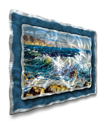 Crashing Waves - Painted Steel Metal Welded Wall Art Decor - Ash Carl Designs