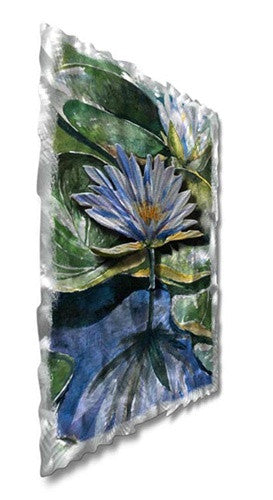 Water Lilies - Abstract Steel Metal Welded Wall Art Decor - Ash Carl Designs