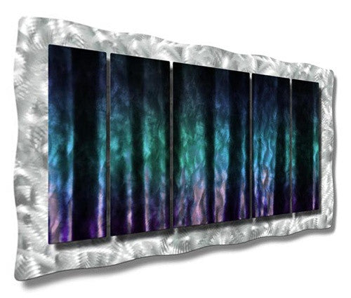 Colors of the North - Metal Wall Art Decor - Ash Carl Designs