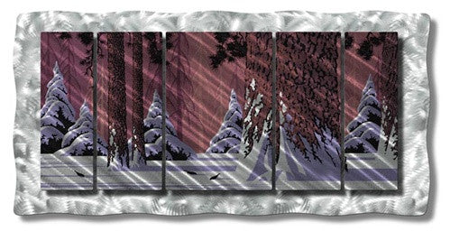 Winter Woodland - Metal Wall Art Decor - Ash Carl Designs