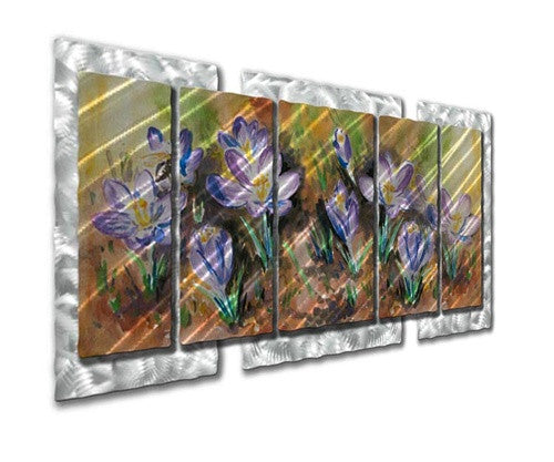 Wild Flowers - Metal Wall Art Decor - Ash Carl Designs