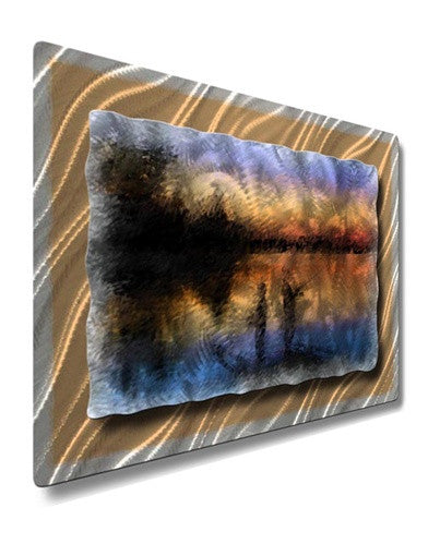 Sunset Fishing - Metal Wall Art Decor - Ash Carl Designs