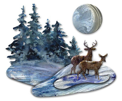 Deer Trail - Metal Wall Art Decor - Josh Heriot