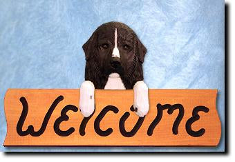 Newfoundland Dog Wood Welcome Sign