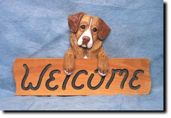 Nova Scotia Duck Tolling Retriever Dog Wood Welcome Sign