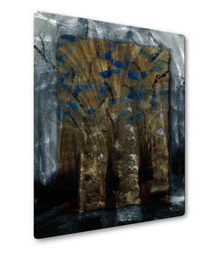 Blue Efflorescence - Metal Wall Art Decor - Ruth Palmer
