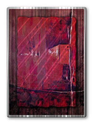 Crimson Combination - Metal Wall Art Decor - Ruth Palmer
