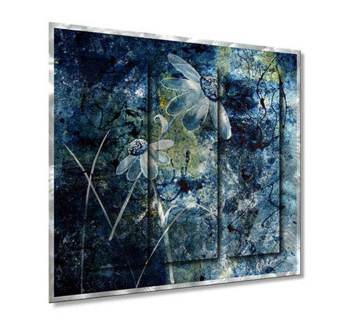 Blue Beauties - Metal Wall Art Decor - Ruth Palmer