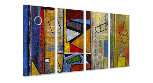 Abstract - Painted Steel Metal Welded Wall Art Decor - Corrosion Resistant