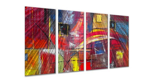 Color Blocks - Abstract Style Sculpture Steel Metal Welded Wall Art Decor - Ruth Palmer