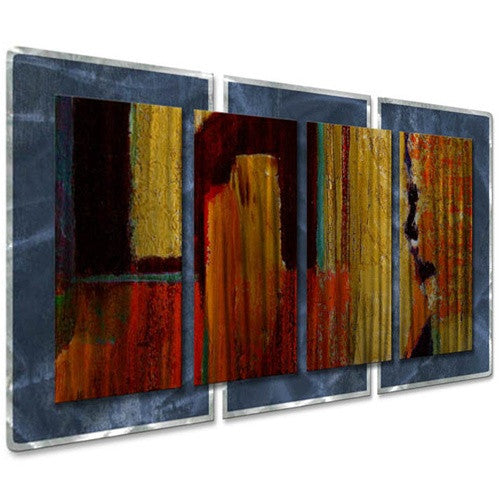 Muted Primary - Abstract Steel Metal Welded Wall Decor - Ruth Palmer