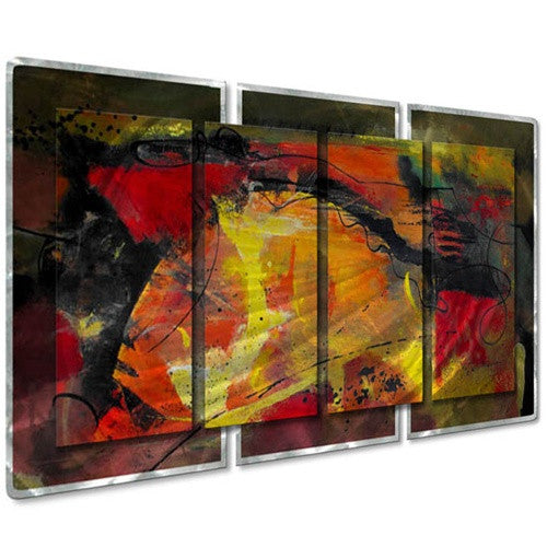 Ignited - Abstract Sturdy Steel Metal Welded Wall Art Decor - Ruth Palmer
