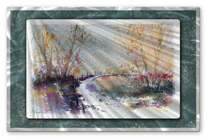 Country Road - Painted Steel Metal Welded Wall Art Decor - Pol Ledent