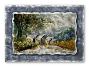Country Houses - Metal Wall Art Decor - Pol Ledent