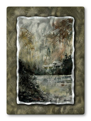 Rainy Village - Metal Wall Art Decor - Pol Ledent