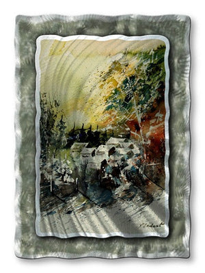 Summer Town - Metal Wall Art Decor - Pol Ledent